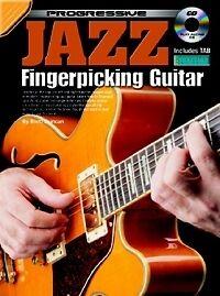 Vente Professionnelle Progressive Jazz Fingerpicking Guitar Book & Cd-afficher Le Titre D'origine Ture 100% Garantie