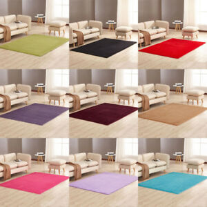 Details about Fluffy Rugs Anti-Skid Shaggy Area Rug, Dining Room Home  Carpet Floor Mat 10-Size