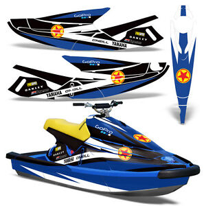 Decal Graphic Kit Yamaha Jet Ski Wb 700 Wrap Jetski Parts Wave Blaster 93 96 R S Ebay