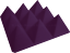 Acoustic-Foam-Pro-Pack-Plus-96pcs-Purple-Pyramid-12X12x4-034-Studio-Soundproof-Tile thumbnail 4