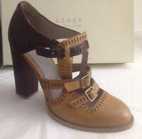 Nordstrom Hinge Women's Shoes Cashew Lea Block Heel Mary Jane Sz-7m