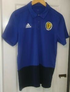 Scotland Adidas Player Issue Polo Shirt 2018/2019 Season.  Size L.  Excellent.