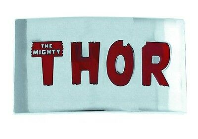 MARVEL COMICS THOR IN RED LETTERS BELT BUCKLE   #soct15-330