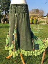 DELICIOUS NEW GREEN SKIRT SIZE 10 12 14 BOHO HIPPIE LONG DRESS PAGAN GYPSY