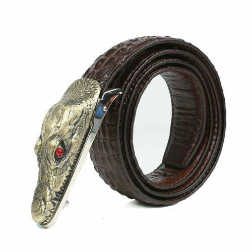 Men Alligator Design Belts Crocodile Leather Belt Waistband Fashion Gifts Decor