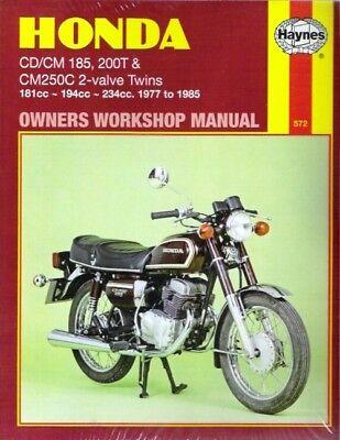 1977-1985 Honda CD185 CM185 200T CM250C Repair Service Workshop Shop Manual 3592
