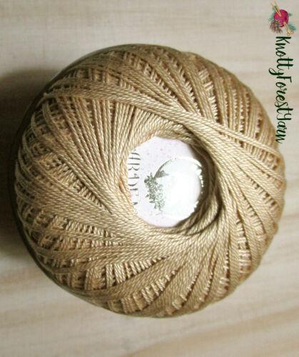 TAFFY Crochet Thread Egyptian Cotton GARDEN 10 Nazli Gelin 306yd Camel Tan