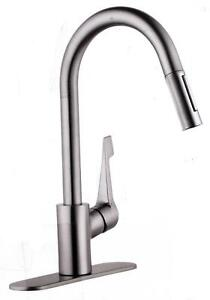 Image Is Loading Hansgrohe Cento Higharc Kitchen Faucet Steel Optik 04571805