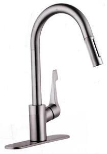 Hansgrohe Cento Higharc Kitchen Faucet Steel Optik 04571805