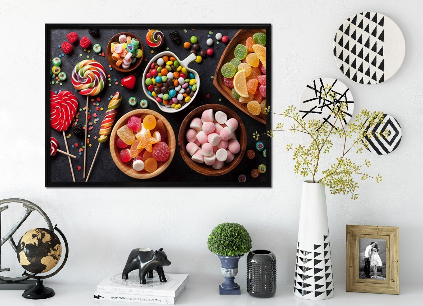 3D Delicious Candy 2 Framed Poster Home Decor Print Painting Art AJ WALLPAPER