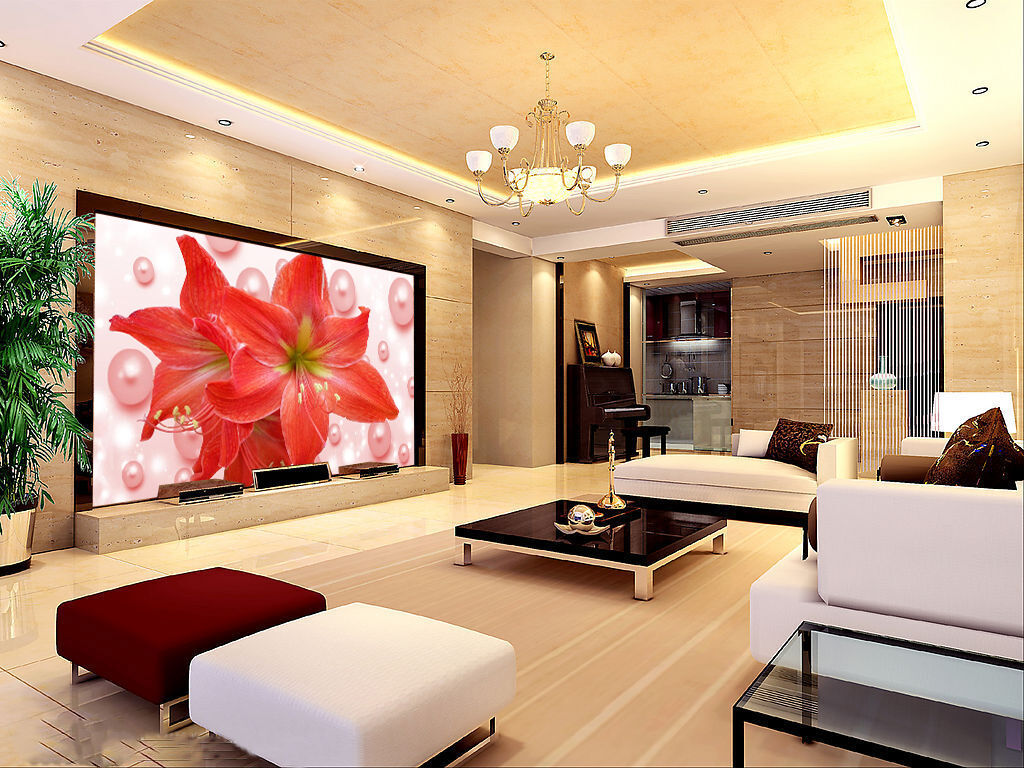 3D Flower And Pearls 2538 Paper Wall Print Wall Decal Wall Deco Indoor Murals