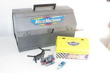 VINTAGE Micro Machines Cassetta degli attrezzi PLAYSET + Speedshop 500 Set ANNI 1980 Galoob