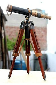 Royal Navy Solid Brass Telescope With Stand Vintage Nautical Maritime Scope Gift