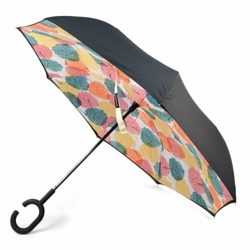 Double Layer Inverted Umbrellas C-Shaped Handle Reverse Folding Windproof...
