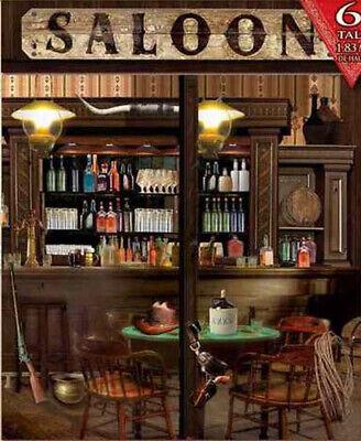 Saloon Scene Setter Wild West Cowboy Party Western Town Bar Lasso Backdrop 7 5 721773760525 Ebay