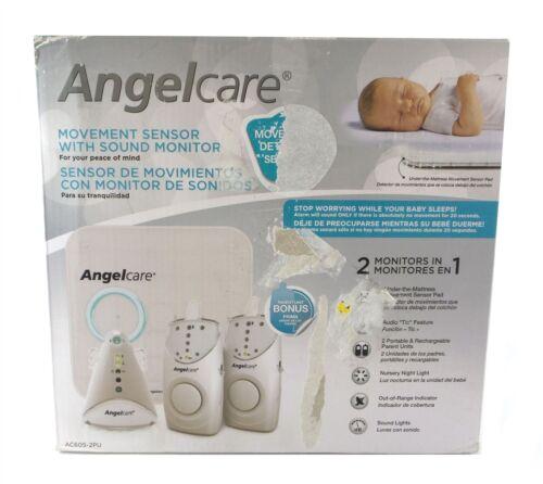 Angelcare Movement Sensor w// Sound Monitor AC605-2PU 2 Parent Units Night Light