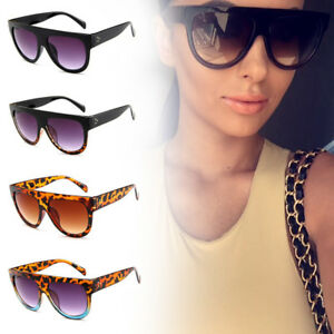 c6f0c5b77a58 Image is loading Flat-Top-Oversized-Women-Sunglasses-Square-Frame-Gradient-