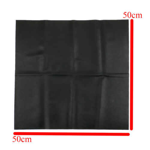 Black 50x50cm Faux Leather Fabric Leatherette for Leather Crafts Upholstery