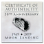 2019 Republic of Congo 1 oz Silver 50th Anniv SKU#186632 of Moon Landing