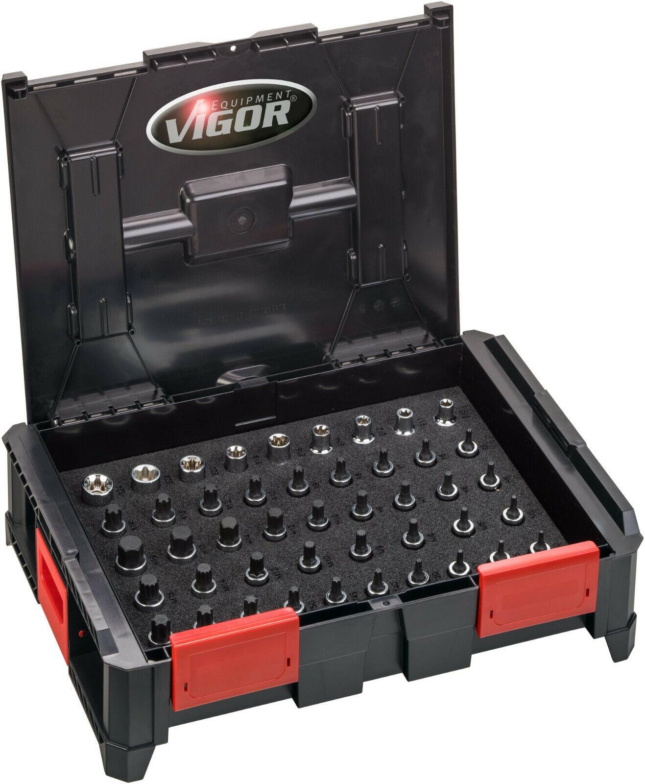 VIGOR V5166 Multibox mit Sortiment Werkzeugboxen-System V5089 Steckschlüssel
