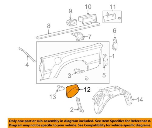 For Lid Sub-Assembly Fuel Filler Opening Genuine For Toyota Tacoma 2005-2015