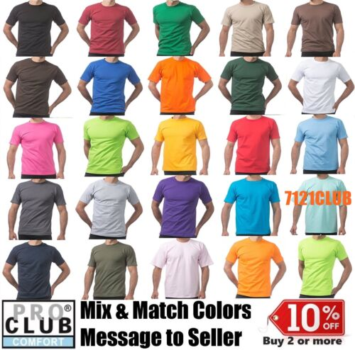 7xl Club Magliette Pro Lotto Comfort Manica Plain Proclub pezzi Basic corta 5 Mens S q4txxZOw