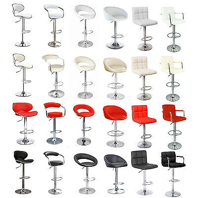 1//2 Chairs Faux Leather Breakfast Bar Stool Kitchen Barstools Pub Swivel Chair N