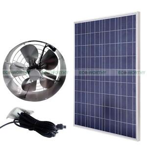 65w Vent Fan Kits Amp 100w Watts Solar Panel Module For Barn