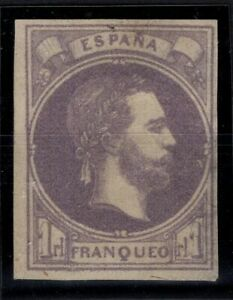 P133266/ SPAIN – CARLIST – EDIFIL # 158 MINT NO GUM – CV 460 $