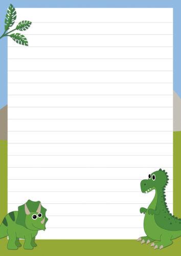 Block Briefpapier Notizblock JungsTiere Schreibblock Dinosaurier Dinos A5 50 Bl