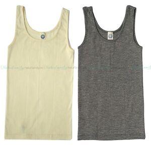 Sonderverkäufe geschickte Herstellung Outlet-Verkauf Details zu Cosilana Damen Achselhemd Wolle Seide Baumwolle Unterhemd Hemd  Ärmellos Bio Öko