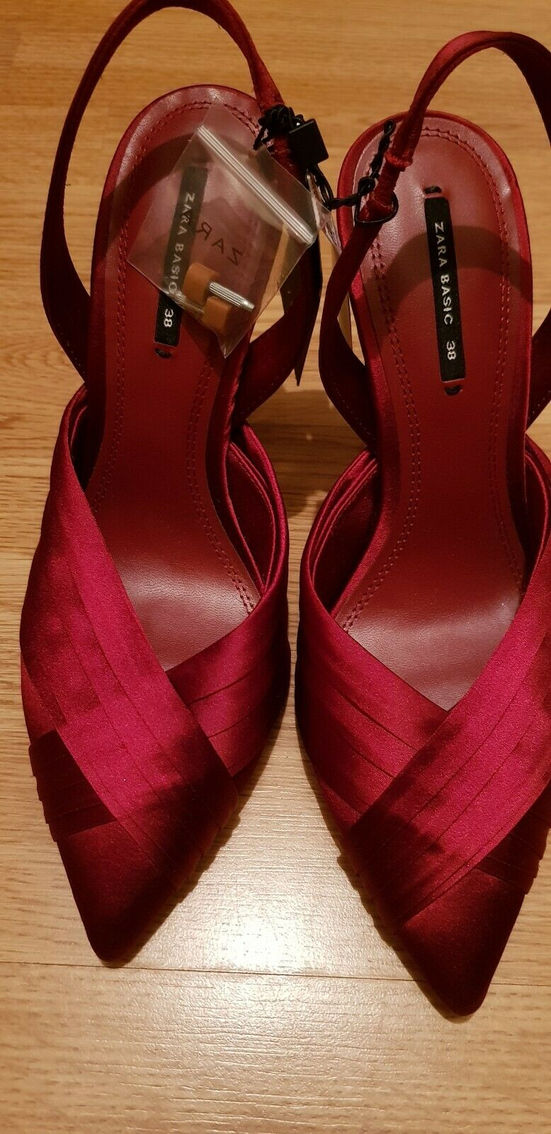 ZARA SATIN HIGH HEEL SLINGBACK SHOES ,SIZE UK 5   EUE 38