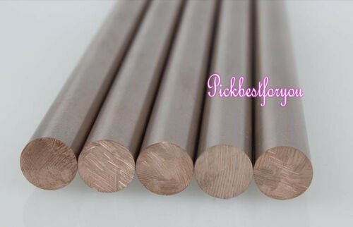 "1x W-CU Tungsten 70/% Copper 30/% Alloy Rod OD 25mm 0.98/"" Length 200mm 8/"" #MN40 QL"