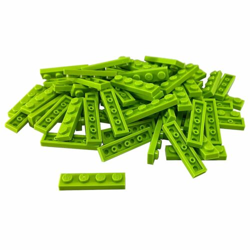 50 NEW LEGO Plate 1 x 4 BRICKS Lime