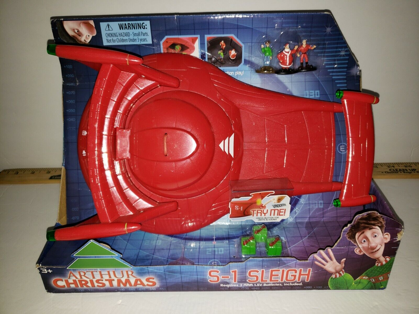 Arthur Christmas S 1 Sleigh Playset Rare Sealed New With Figures Accessories For Sale Online