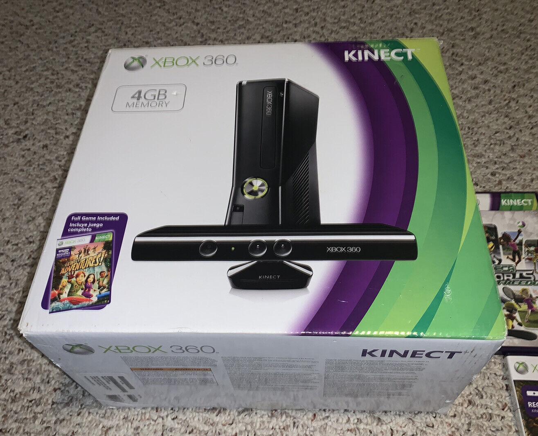 Microsoft Xbox 360 S 4gb System Lot W Kinect Games Console Bundle 1439 Ebay