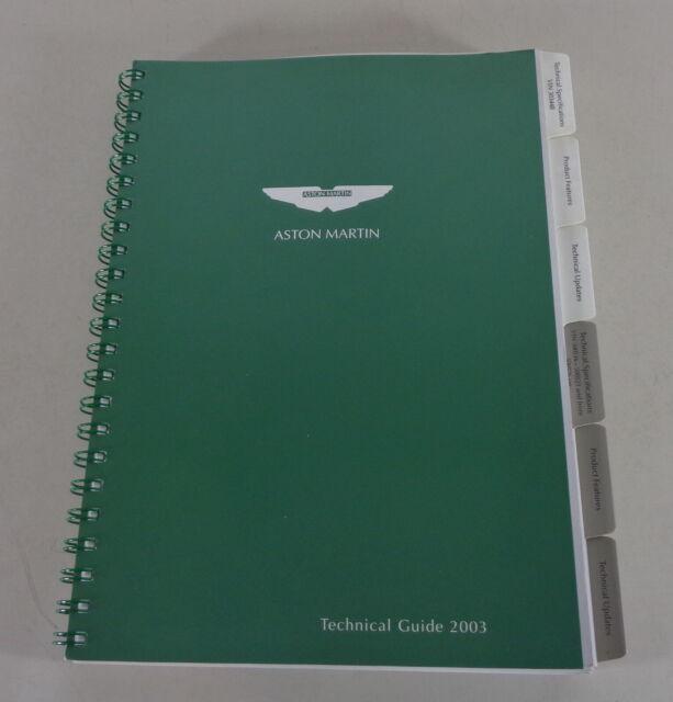 Technical Manual Aston Martin Db7 Vantage V12 Vanquish By