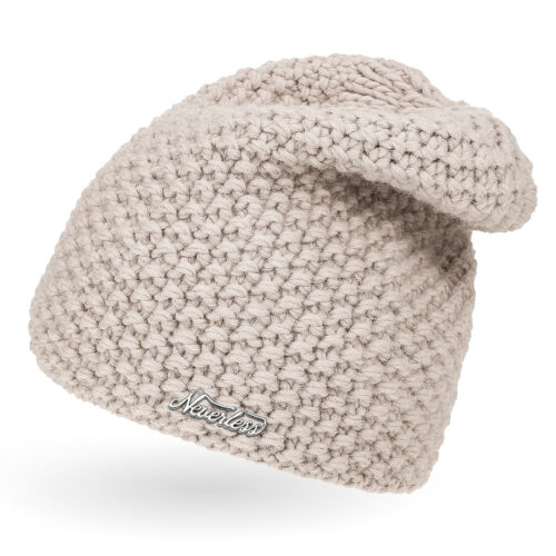 einfarbig Neverless® Damen Strickmütze Strick-Beanie Winter-Mütze