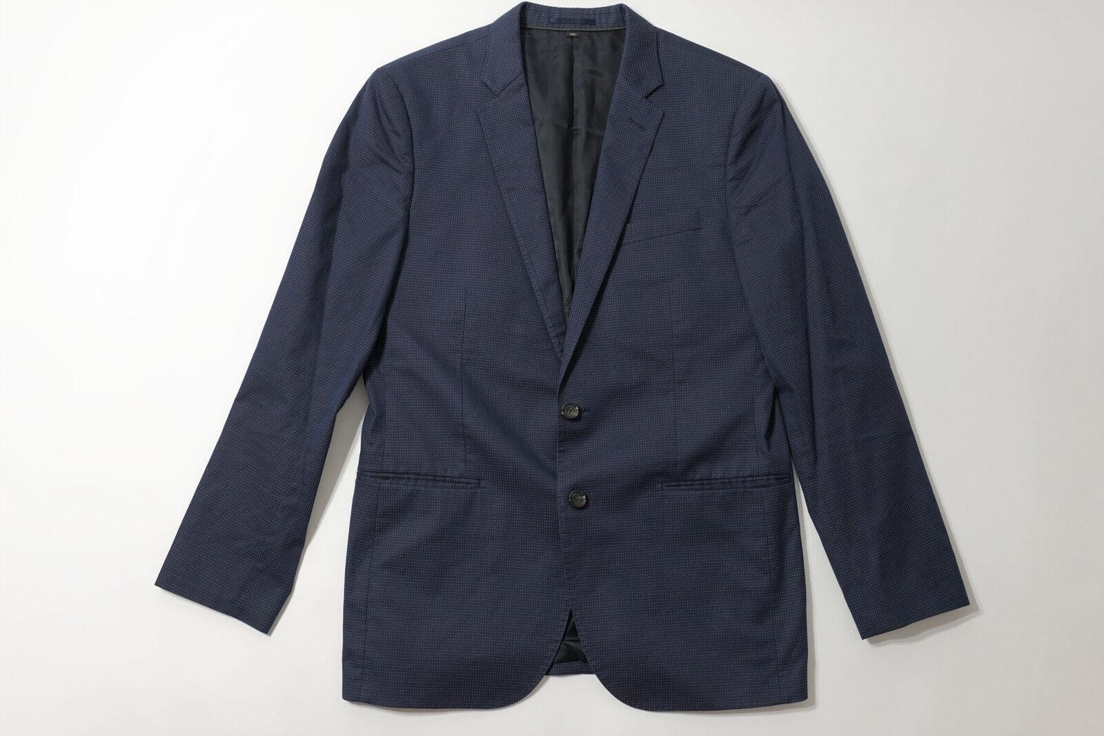 J.Crew Ludlow suit Blazer jacke in dotted indigo Italian baumwolle Größe 40R 40 R