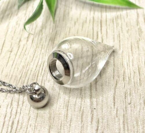 AUSWAHL SELBST BEFÜLLBAR Glaskelch Kette Anhänger befüllen Glaskugel Talsiman