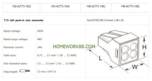 10 PCS 4 POLE 24A 400V QUICK PUSH IN WIRE CONNECTORS 18-12 GAUGE