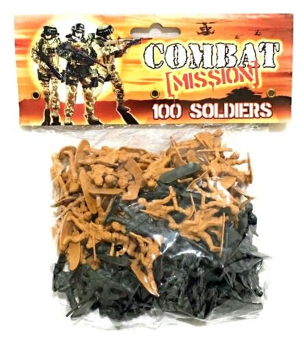 Pack of 100 Soldier Army Men Figures Military Action Game Toy For Age 3+