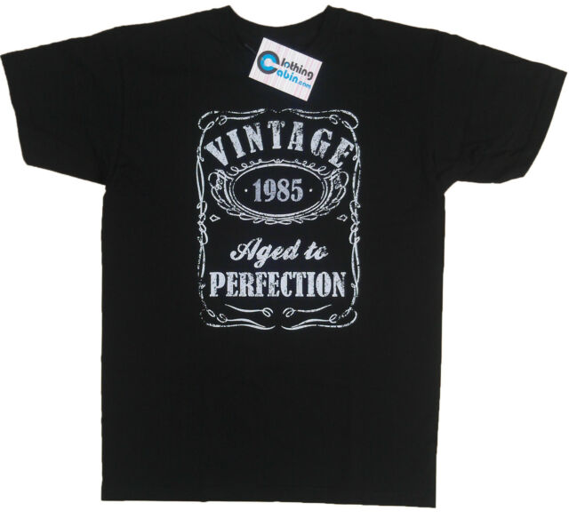 Vintage Aged to Perfection 1985 31st Birthday Present T Shirt 31 Years Old