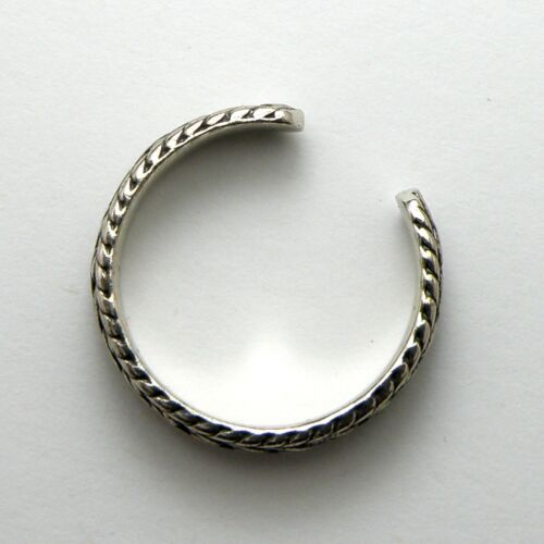 Solid 925 Sterling Silver Toe Ring Gift Bag Midi Ring Rope Design Ladies New