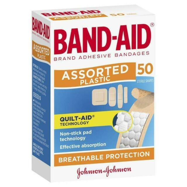 * Band-Aid Assorted Plastic Strips 50 Breathable Bandages, Plasters