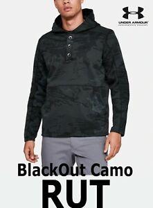MEN-039-S-UA-RUT-FLEECE-034-BLACKOUT-034-CAMO-STORM-BLACK-PULLOVER-HUNT-1343219-998-LARGE