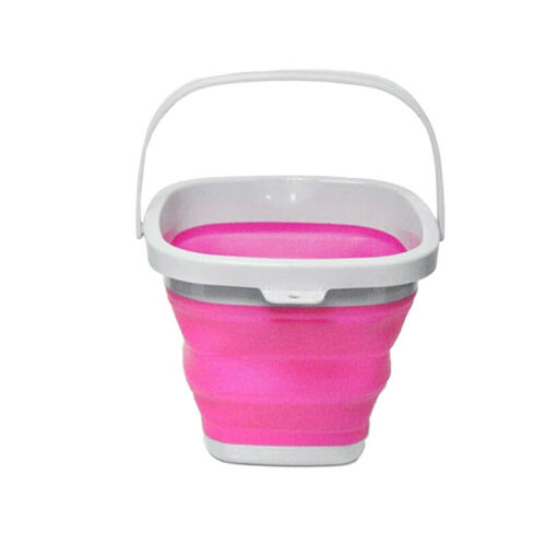 PP Travel Bucket Collapsible 3L//5L//10L Household Foldable Portable Round Square