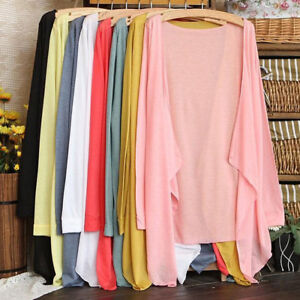 Summer-Women-Long-Thin-Cardigan-Modal-Sun-Protection-Clothing-Tops-Beach-Casual