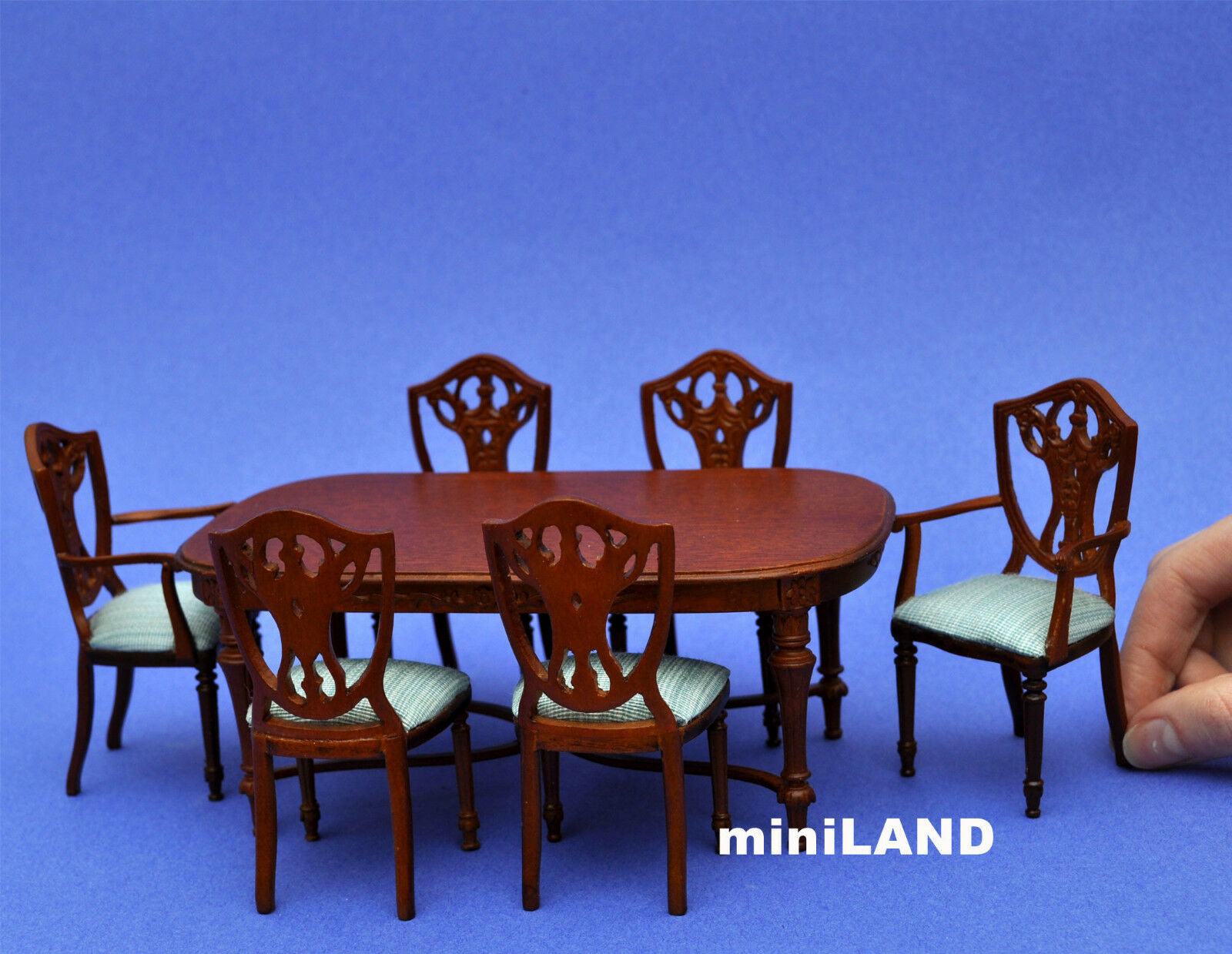 Victorian Dinning room set 7pcs DollHouse miniature1 12 quality carved wood