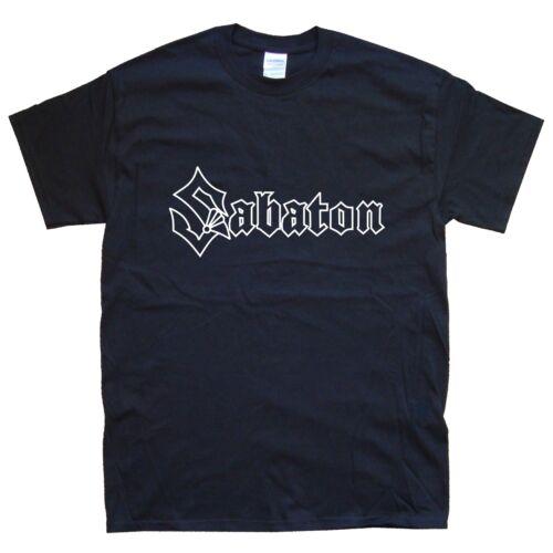 White SABATON T-SHIRT sizes S M L XL XXL colours Black